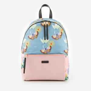 Furla Women's Giudecca Small Backpack - Blue/Blush Print