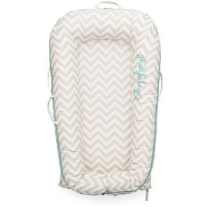 Sleepyhead Deluxe + Pod for 0-8 Months - Silver Lining