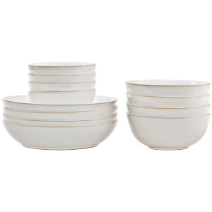 Denby Natural Canvas 12 Piece Bowl Story Set