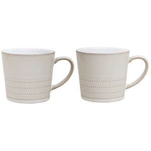Denby Natural Canvas 2 Piece Textured Mug Set