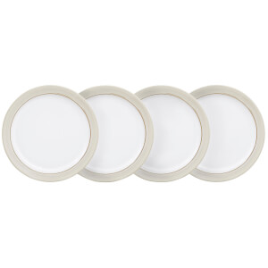 Denby Natural Canvas 4 Piece Medium Plate Set