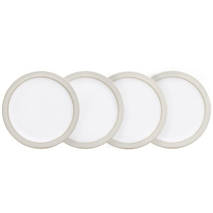 Denby Natural Canvas 4 Piece Small Plate Set