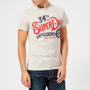 Superdry Men's NYC Goods Co T-Shirt - Sea Stone Grey Snowy