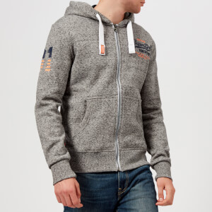 Superdry Men's Premium Goods Zip Hoody - Flint Grey Grit
