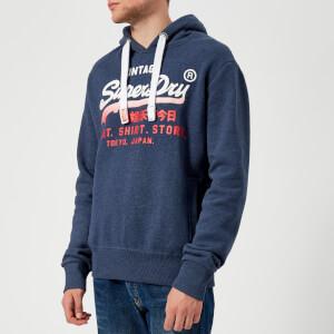 Superdry Men's Sweatshirt Store Fade Hoody - Princedom Blue Marl