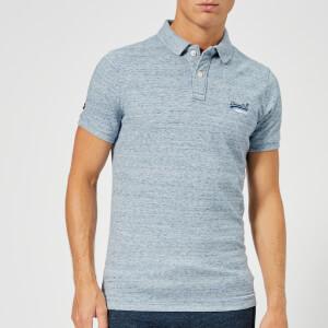 Superdry Men's Classic Short Sleeve Pique Polo Shirt - Gravel Blue Grit