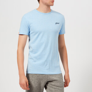 Superdry Men's Orange Label Vintage Emb T-Shirt - Pastel Blue Marl