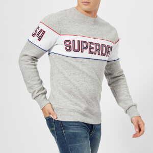 Superdry Men's Retro Stripe Crew Sweatshirt - Street Works Grit