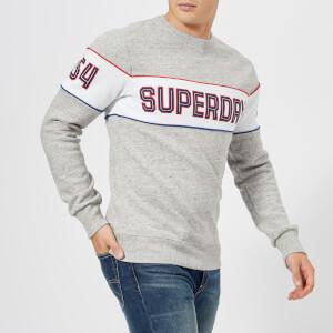 Superdry Men's Retro Stripe Crew Sweatshirt - Street Works Grit