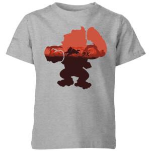 Nintendo Donkey Kong Silhouette Serengeti Kid's T-Shirt - Grey
