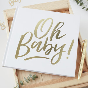 Ginger Ray Guest Book - Oh Baby