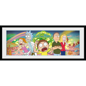 Rick and Morty Group 12 x 30 Inches Framed Photograph