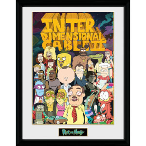 Rick and Morty Interdimensional Cable 12 x 16 Inches Framed Photograph