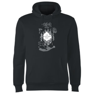 Sweat à Capuche Homme Carte du Marauder - Harry Potter - Noir