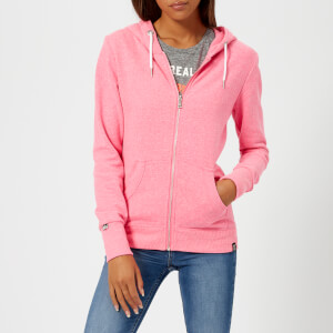 Superdry Women's Orange Label Luxe Loopback Zip Hoody - Blizzard Pink Snowy