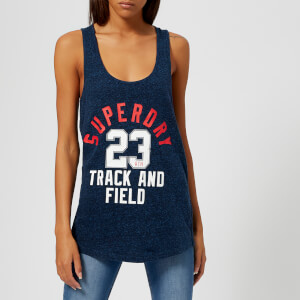 Superdry Women's Track & Field Vest - Rugged Navy