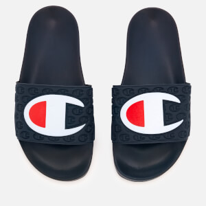 Champion Women's Pool Slide Sandals - Navy