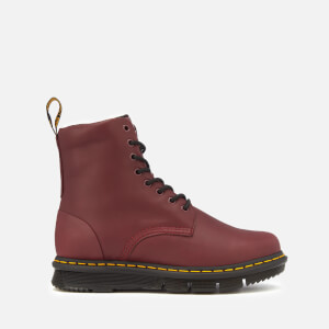 Dr. Martens Men's Lexington Cube Flex Leather 8-Eye Boots - Burgundy