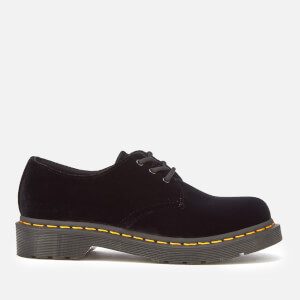 Dr. Martens Women's 1461 Velvet Pascal 3-Eye Shoes - Black