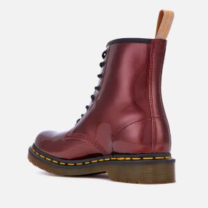 Dr. Martens Women's 1460 Vegan Chrome Metallic 8-Eye Boots - Oxblood: Image 2