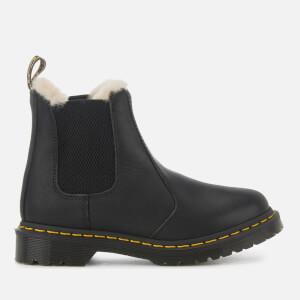 Dr. Martens Women's 2976 Leonore Faux Fur Lined Chelsea Boots - Black