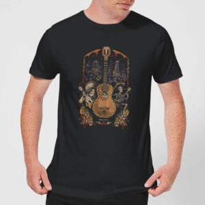 T-Shirt Homme Affiche Guitare Coco - Noir