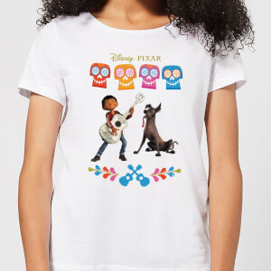 Camiseta Coco Disney Miguel Logo - Mujer - Blanco