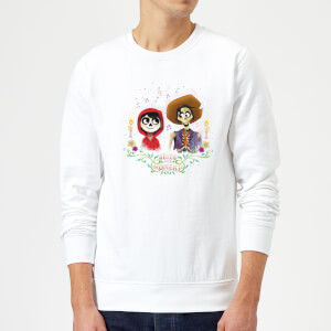 Coco Miguel And Hector Sweatshirt - White