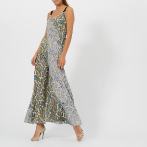 Diane von Furstenberg Women's Paneled Maxi Dress - Barton Logo Bone/Barton