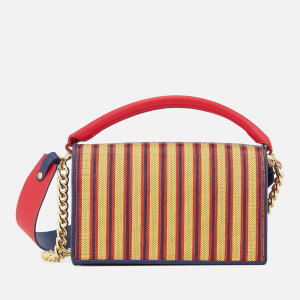 Diane von Furstenberg Women's Bonne Soiree Raffia Bag - Cherry Multi