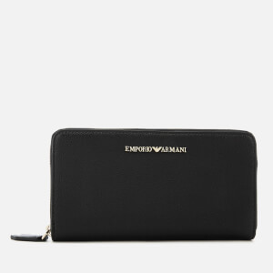 Emporio Armani Women's Zip Around Wallet - Black