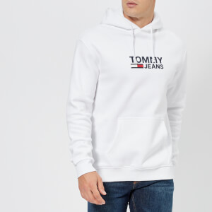 Tommy Jeans Men's Corporate Logo Hoody - Classic White