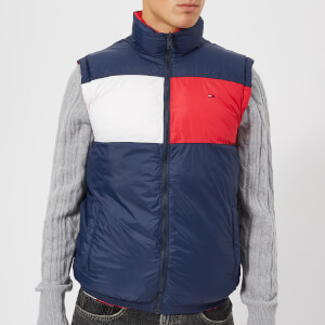 Tommy Jeans Men's Reverse Gilet - Lollipop/Black Iris