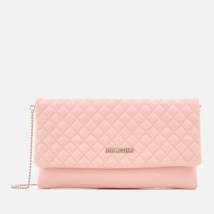 Love Moschino Women's Small Quilted Cross Body Bag - Pink