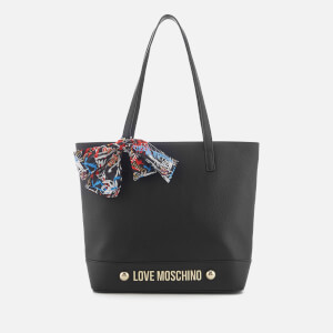 Love Moschino Women's Tote Bag with Scarf Bow - Black