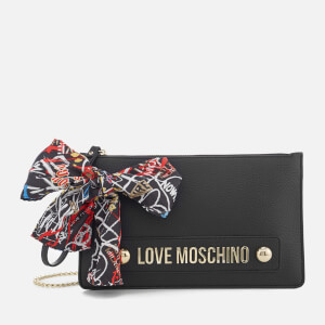 Love Moschino Women's Small Zip Pouch Bag - Black