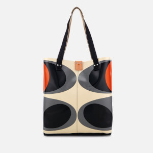 Orla Kiely Women's Tarpaulin Flower Stem Print Tote Bag - Granite