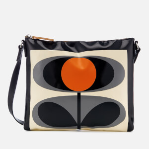 Orla Kiely Women's Tarpaulin Flower Stem Print Cross Body Bag - Granite