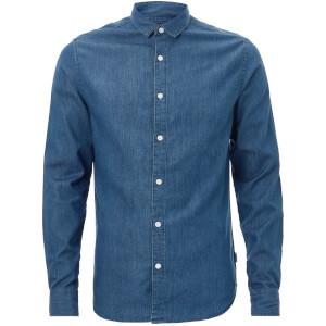 Only & Sons Men's Navin Denim Shirt - Dark Blue Denim