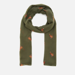 Joules Women's Wensley Woven Scarf - Grape Leaf Partridge