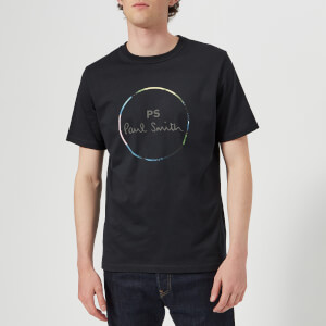 PS by Paul Smith Men's Short Sleeve Regular Fit Circle T-Shirt - Dark Navy
