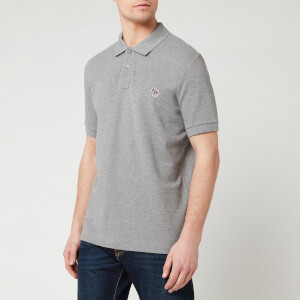 PS Paul Smith Men's Zebra Logo Regular Fit Polo Shirt - Grey Melange