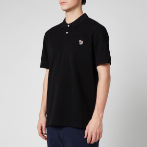 PS Paul Smith Men's Zebra Logo Regular Fit Polo Shirt - Black