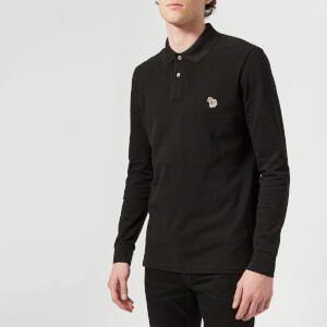PS by Paul Smith Men's Regular Fit Long Sleeve Polo Shirt - Black