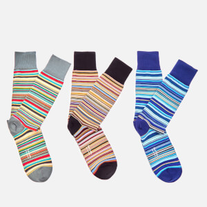 Paul Smith Men's 3 Pack Stripe Socks - Multi