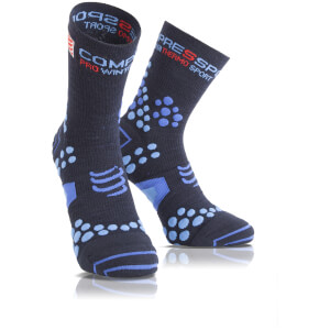 Compressport V2.1 Winter Running Race Socks - Blue