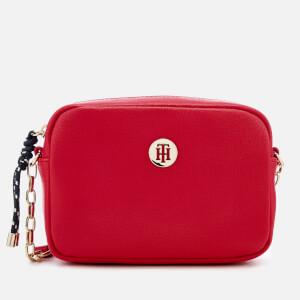 Tommy Hilfiger Women's Buckle Cross Body Bag - Red