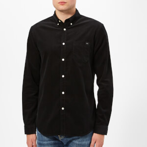 Edwin Men's Babycord Standard Long Sleeve Shirt - Black