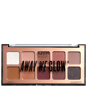 NYX Professional Makeup Away We Glow Shadow Palette paleta cieni do powiek 10 g – Lovebeam