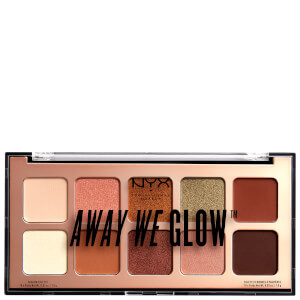 Paleta de sombras de ojos Away We Glow Shadow Palette NYX Professional Makeup 10g - Hooked On Glow